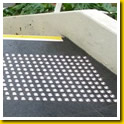 Stainless Steel Dots inset in Extra Large Tiles