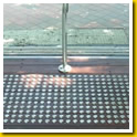 Stainless Steel Dots inset in Small Tiles